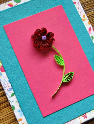 Quilled Heart Flower Card