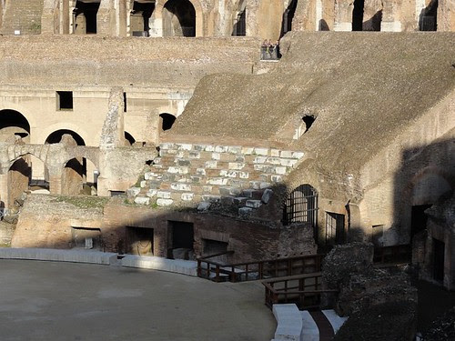 Recreated section of the Colosseum