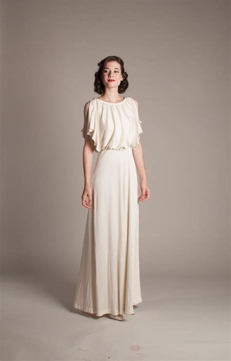 1930s Style Wedding Dress Vintage 70s does 30s by