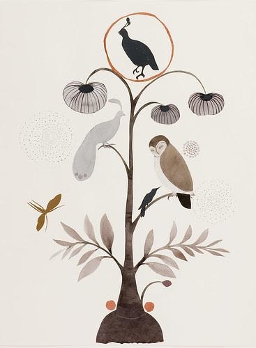 white 3 bird by Lena Wolff