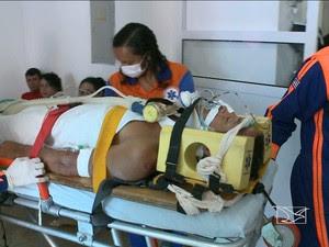 Pacientes foram transferidos para São Luís após acidente em Bacuri (Foto: Reprodução/TV Mirante)