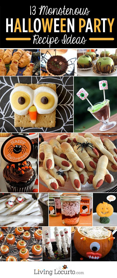 13 Halloween Party Recipe Ideas! LivingLocurto.com