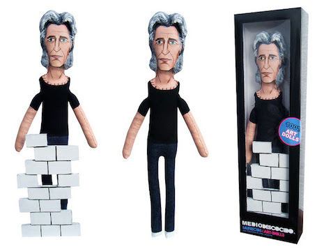 Roger Waters of Pink Floyd and his little plush wall