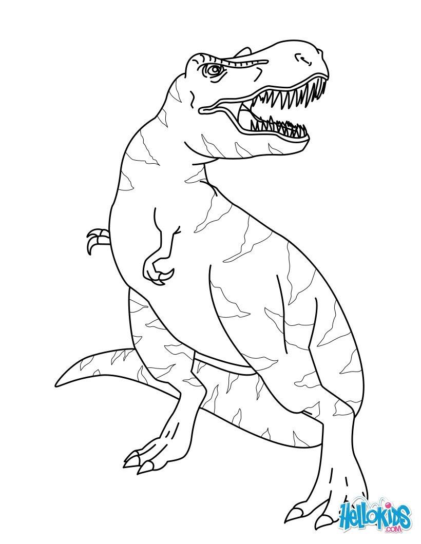 tyrannosaurus rex dinosaurier ausmalbilder