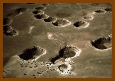 Distribuição das crateras em Winslow, no Arizona.