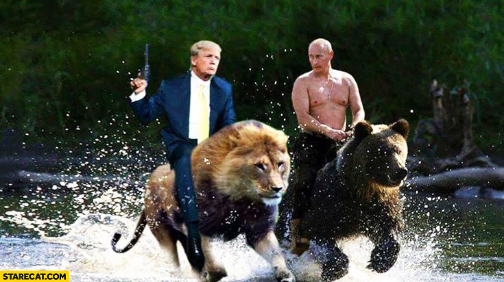 Resultado de imagem para putin riding a bear