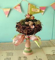 nest on a candlestick