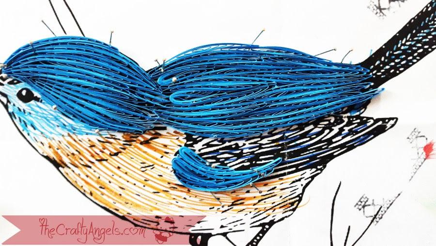 quilled bird quilling combing technique tutorial (6)