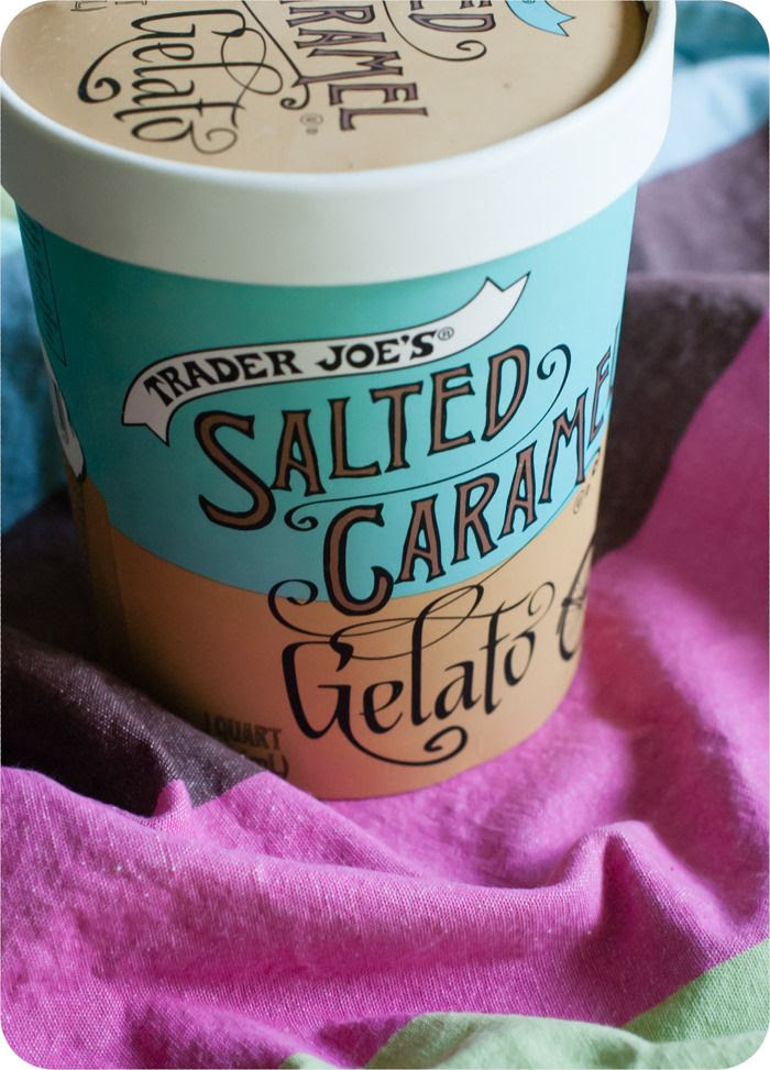 trader joe's salted caramel gelato review : weekly tj's review series from bakeat350.blogspot.com