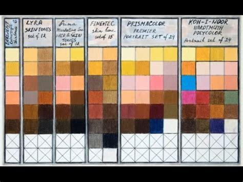 colored pencils skin tones chart combinations portrait sets prismacolor derwent lyra koh  noor