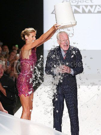 Tim Gunn Ice Bucket Challenge on Project Runway Show for New York Fashion Week photo tim-gunn-ice-bucket-challenge-new-york-fashion-week.jpg