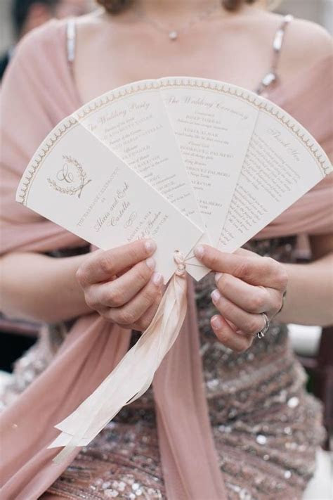 fan wedding programs ideas  pinterest diy