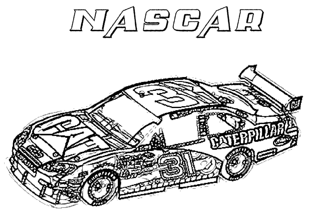 Download Nascar Coloring Page & Coloring Book