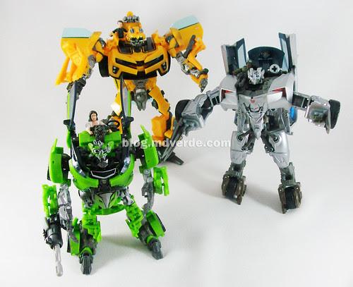Transformers Skids RotF Human Alliance vs Bumblebee vs. Sideswipe - modo robot
