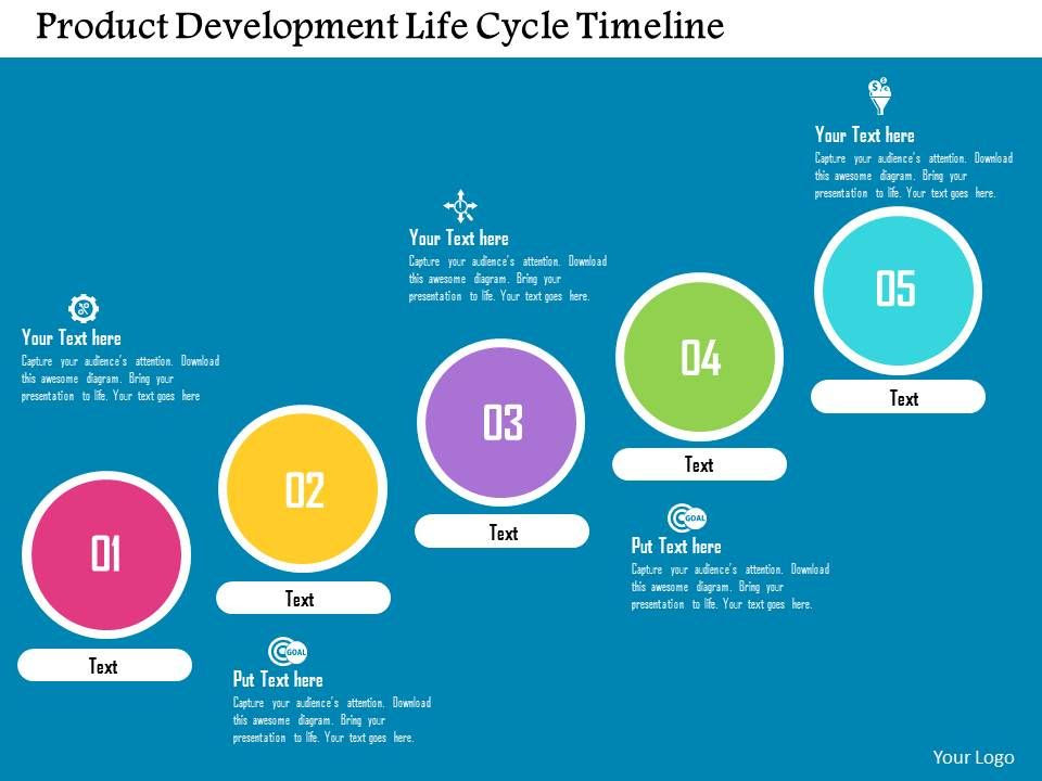product_development_life_cycle_timeline_flat_powerpoint_design_Slide01