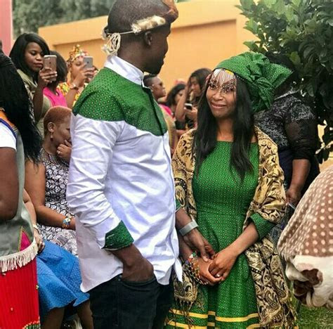 Zulu Couple In Shweshwe Inspired Traditional Wedding