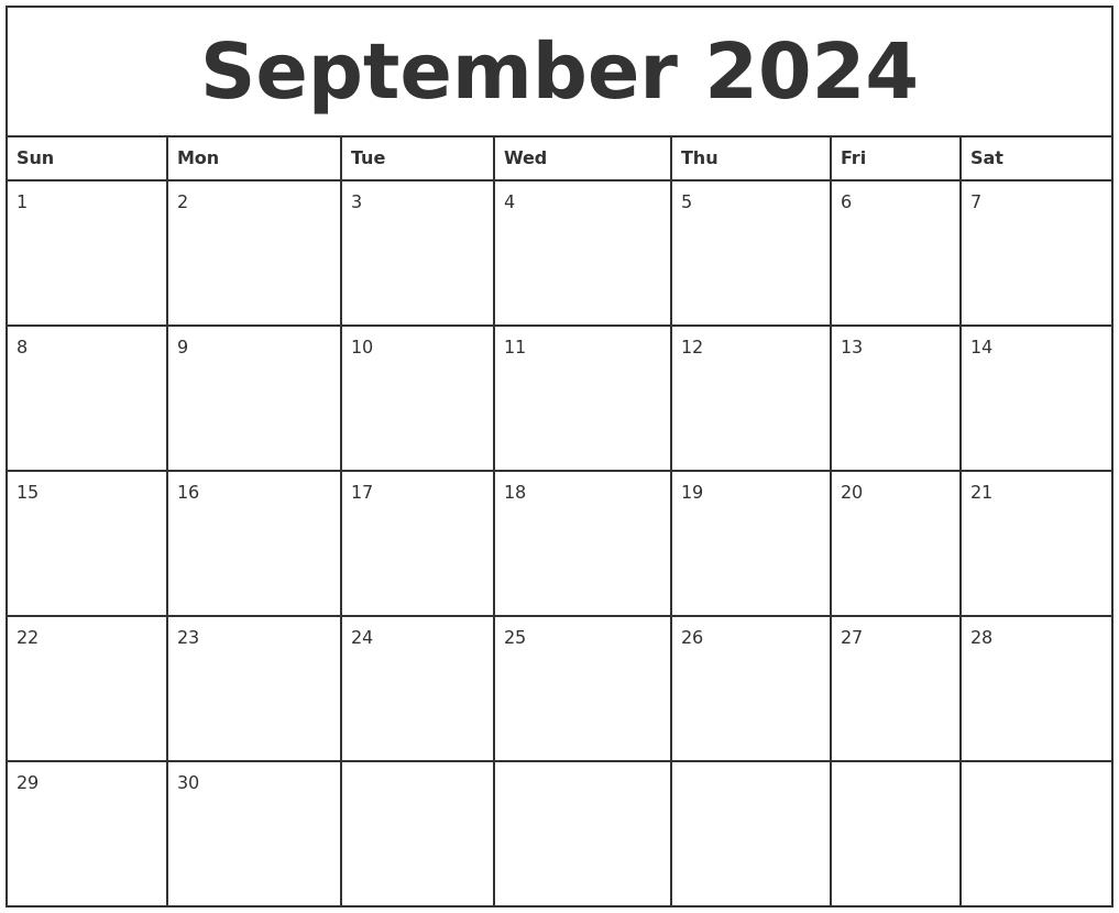 september 2024 printable monthly calendar