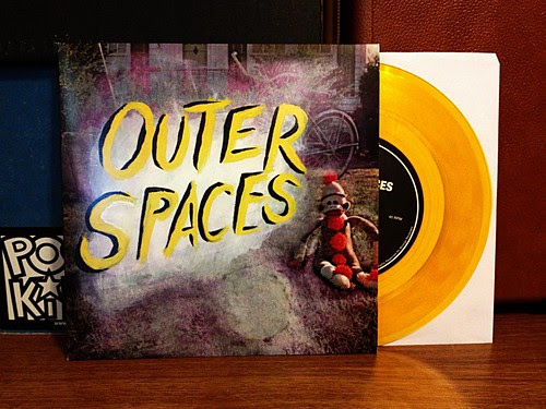 "Outer Spaces - I Was Divided 7"" - Yellow Vinyl by Tim PopKid"