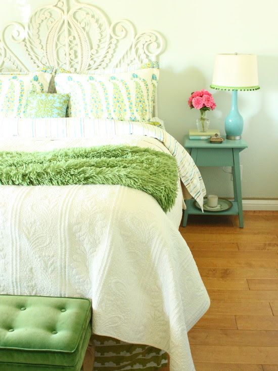 Turquoise And Green Bedroom (San Francisco)