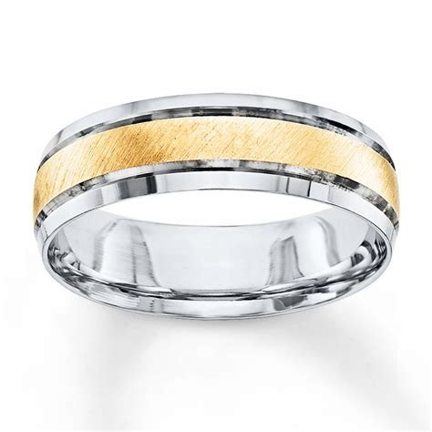 Wedding Band 10K Two Tone Gold 6mm   25177620199   Kay