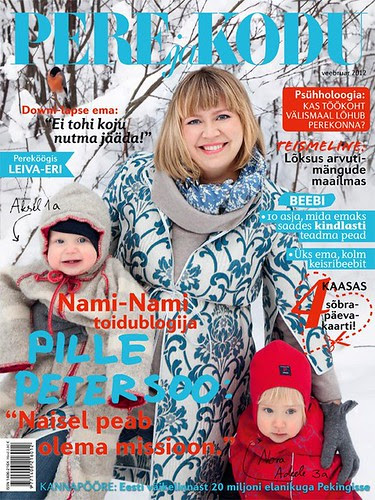 "Estonian family magazine ""Pere & Kodu"" (""Family and Home""), February 2012, front cover"