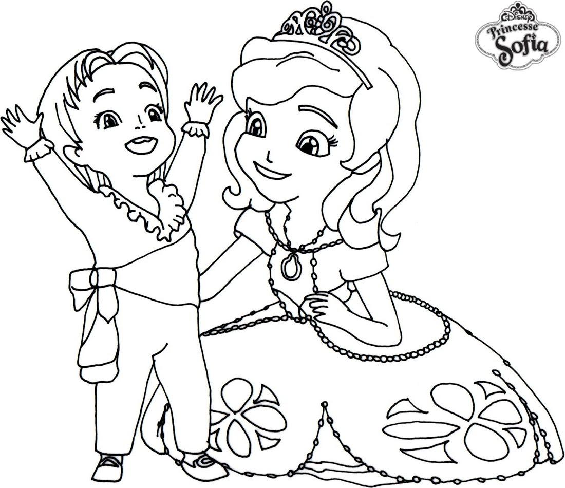 coloriage princesse sofia et le prince james