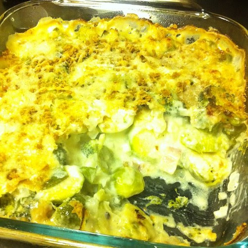 Broc + Brussels Gratin - a Cooking Light Recipe (not sure I believe them)