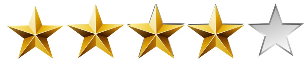 Image result for 4 out 0f 5 stars