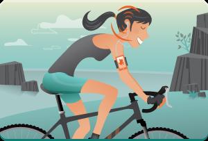 Escucha a tu timeline de Twitter, mientras que su bicicleta