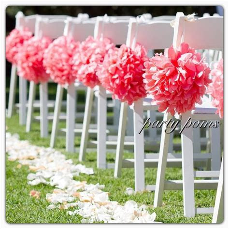 Wedding Ceremony Aisle Decoration .. set of ten 9 inch tissue