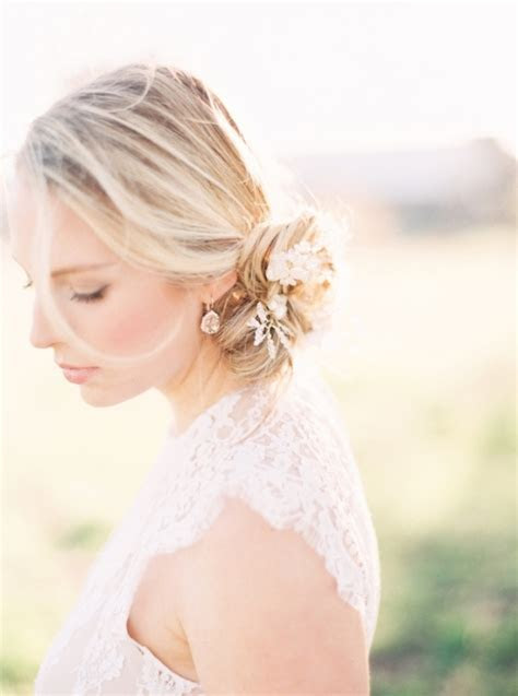 26 Chic Messy Chignon Wedding Hairstyles   Weddingomania