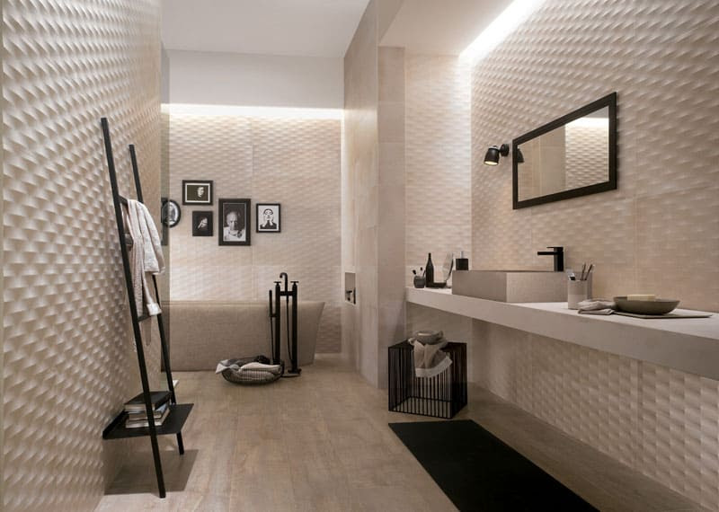 25 Spectacular 3D Wall Tile Designs To Boost Depth and Texture homesthetics ideas (10)