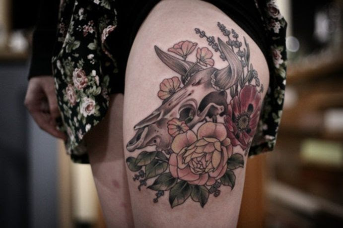 27 Cow Skull Tattoos And Meanings With Tough And Strong Meanings
