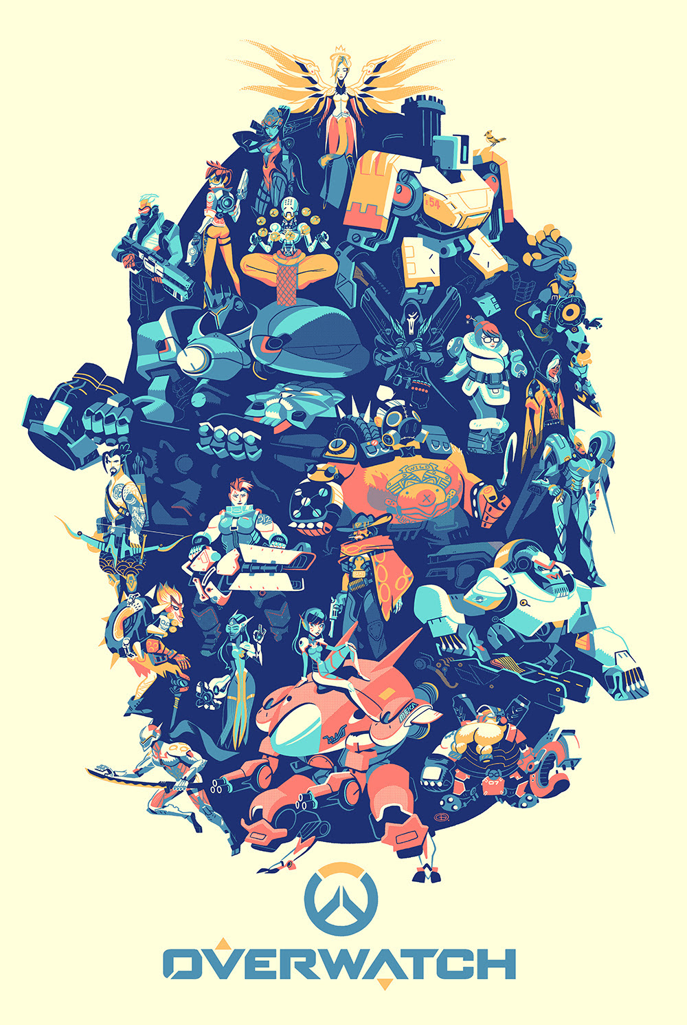 Lamurdi 39 s official blog overwatch posters from hero for T shirt printing and distribution