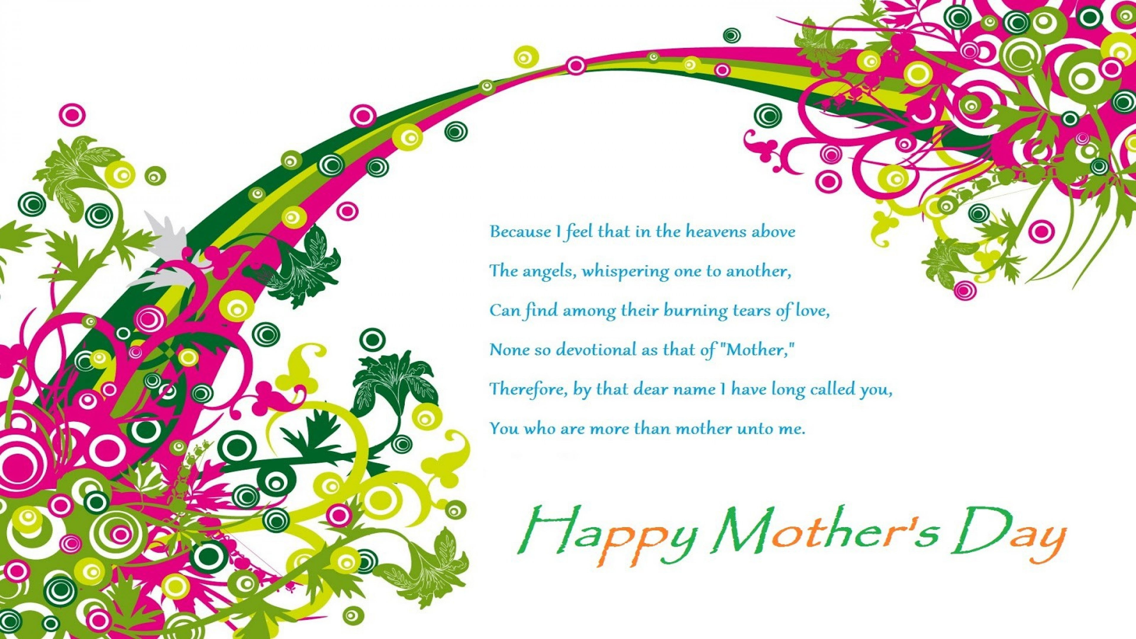Happy Mother S Day Poem Greetings Image Wallpaper