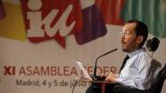 secretario de Organización de Podemos, Pablo Echenique, en la Asamblea de Izquierda Unida. EFE/Fernando Alvarado