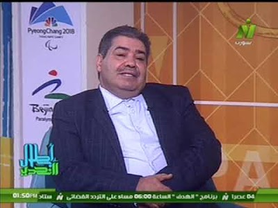 الاعلامى ايهاب حسنين مع سيد خالد الرقيبى رئيس اللجنه الباراليمبية الليبيه