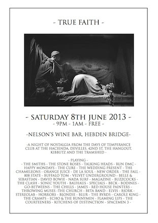 True Faith @ Nelson's, Hebden Bridge 8 June