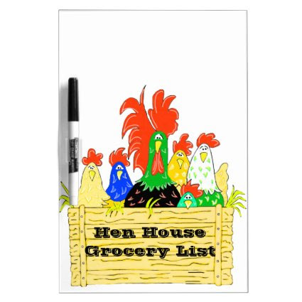 Country Chicken Clan Personalized Dry Erase Board