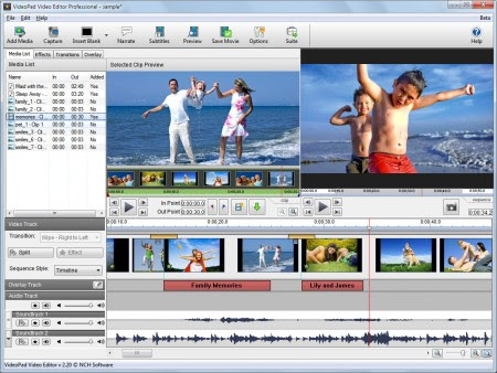 NCH VideoPad Video Editor 3.12