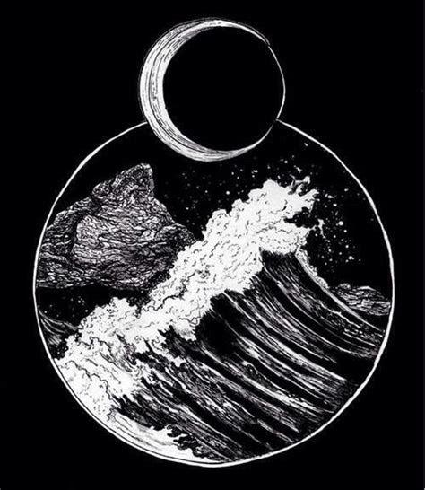 wavemoon tattoo ocean tattoos moon tattoo