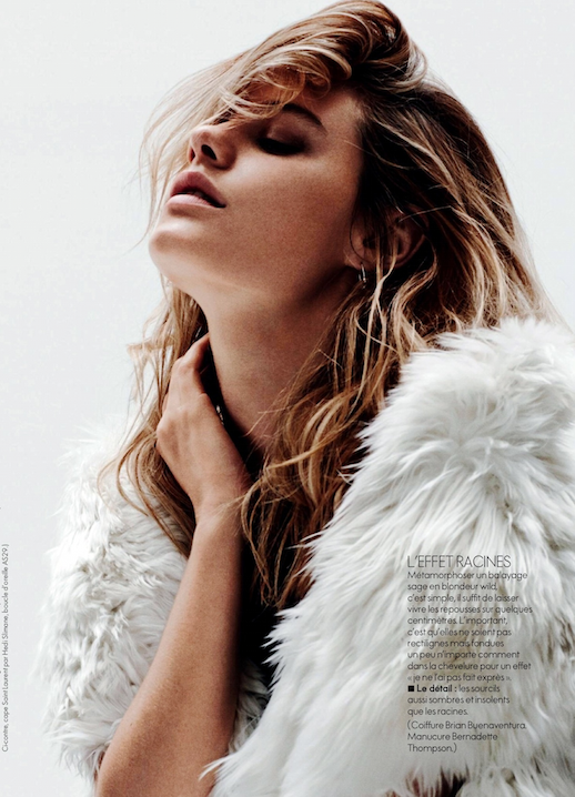 LE FASHION BLOG BEAUTY HAIR EDITORIAL FOLIE GRUNGE ELLE FRANCE WHITE FUZZY FUR COAT ELLE FRANCE BEACHY TEXTURED WAVES WAVY HAIR SAFETY PIN EARRINGS Folie Grunge Model: Camille Rowe Photographer: Nicolas Moore Hair: Brian Buenaventura Make-up: Christian McCulloch Manicure: Bernadette Thompson 4 photo LEFASHIONBLOGBEAUTYHAIREDITORIALFOLIEGRUNGEELLEFRANCEFURCOAT4.png