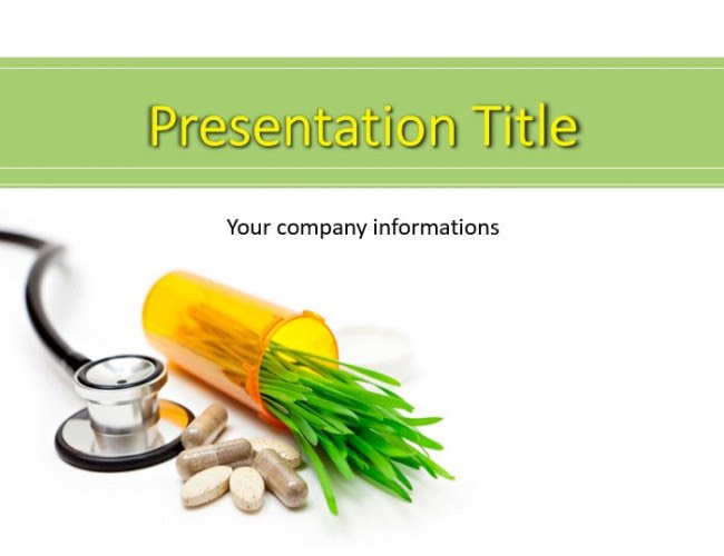 Herbal Pills And Medicine Herb Powerpoint Templates
