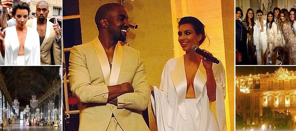 Kanye is smiling