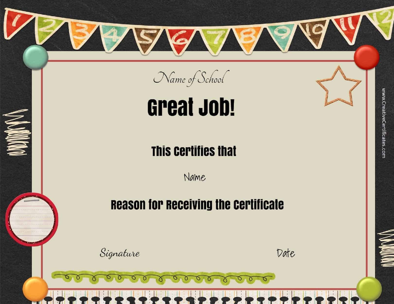 certificates for kids 6
