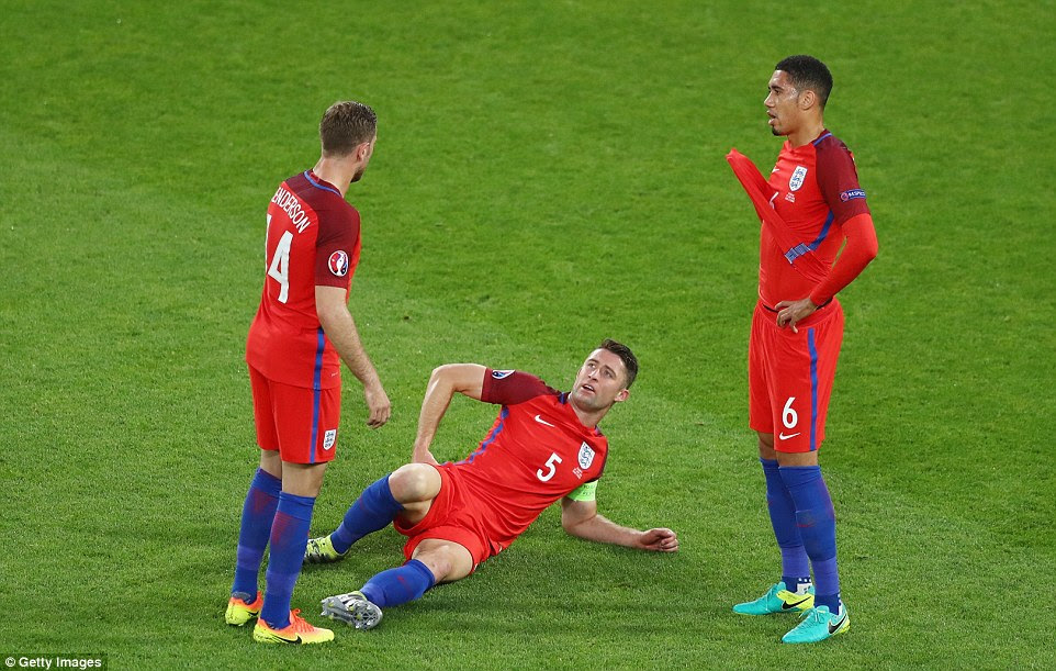 Cahill gave the Three Lions a few nervous moments before half-time as the stand-in captain needed treatment on a hip problem