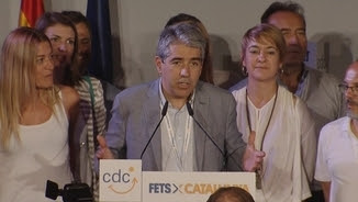 Francesc Homs en la compareixença al Museu Marítim de Barcelona