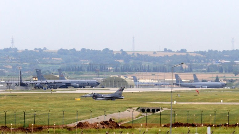 Armed forces aircraft seen at the air base in Incirlik, in Adana city, Turkey. EPA, MURAT KIBRITOGLU