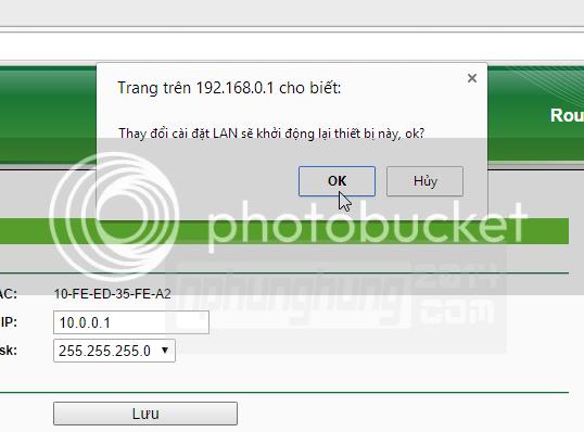 Thiết lập Default Gateway cho Router