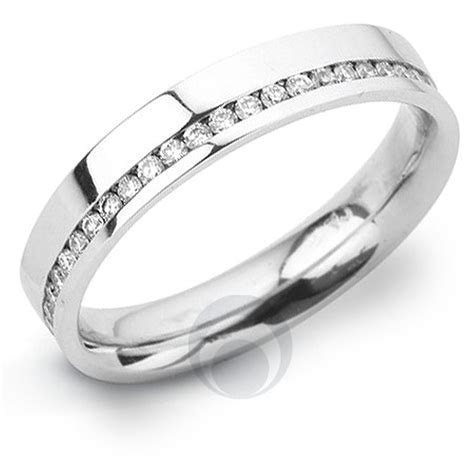Channel Diamond Platinum Wedding Ring Wedding Dress from
